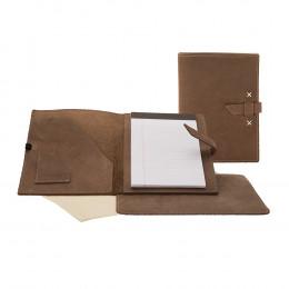 Custom Leather Padfolio and Mouse Pad Desk Set