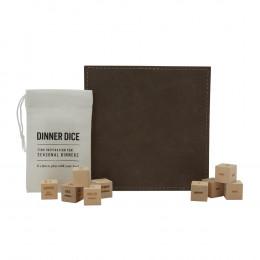 Custom Dinner Dice and Leather Trivet Gift Set