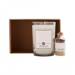 Custom Glass Tumbler Candle and Matches Gift Set