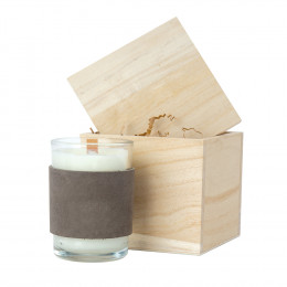 Custom Wooden Wick Scented Candle and Gift Box