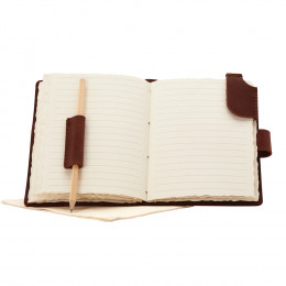 Custom Leather Journal and Pen Set