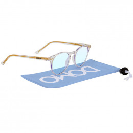 Custom Quinn Blue Blocker Glasses with Microfiber Pouch