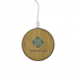 Custom Bamboo Light-Up Wireless Charging Pad