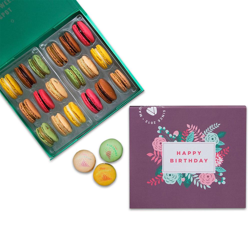 Happy Birthday Woops Macarons Box - 9 pc