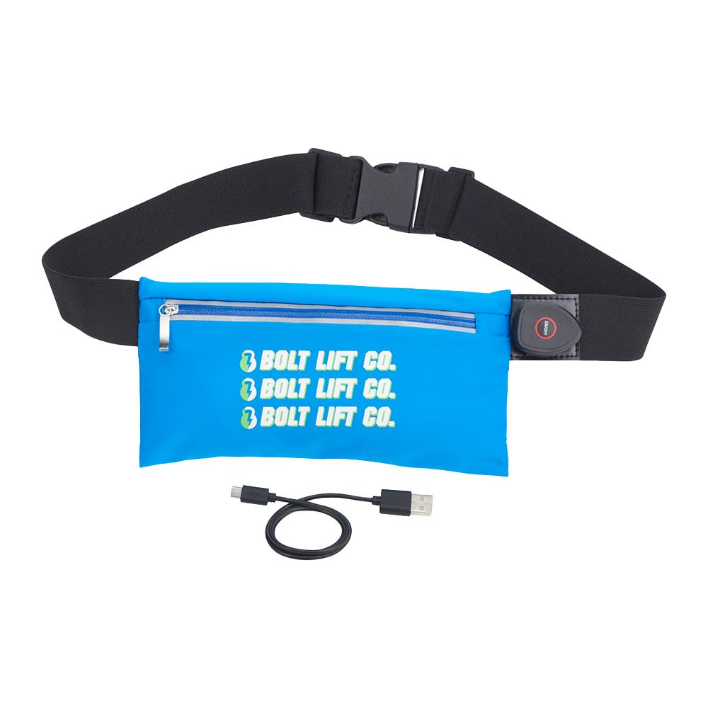 Custom Lumos Rechargeable Light Up Fitness Belt