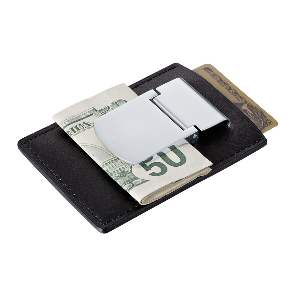 Custom Zippo® Spring Loaded Leather Money Clip