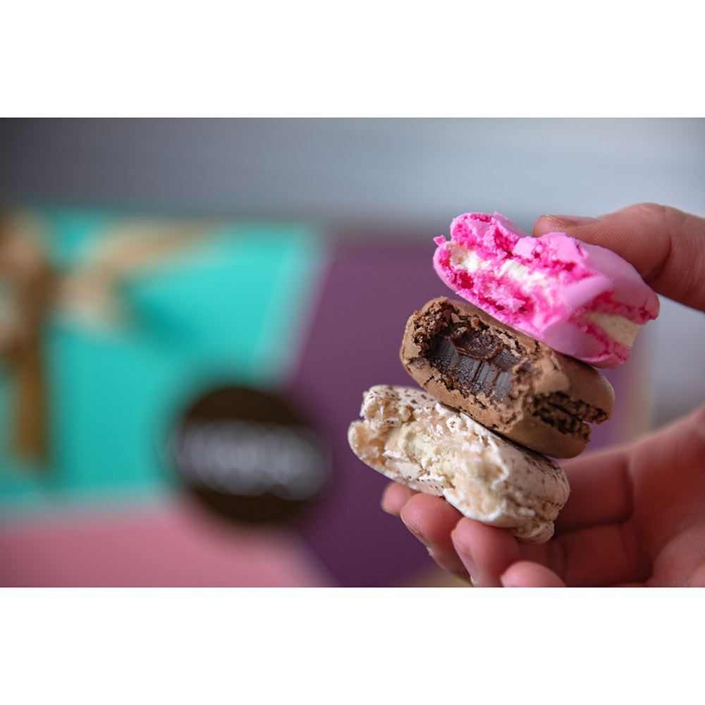 Woops Chocolate Lovers Macaron Gift Box - 18 pc