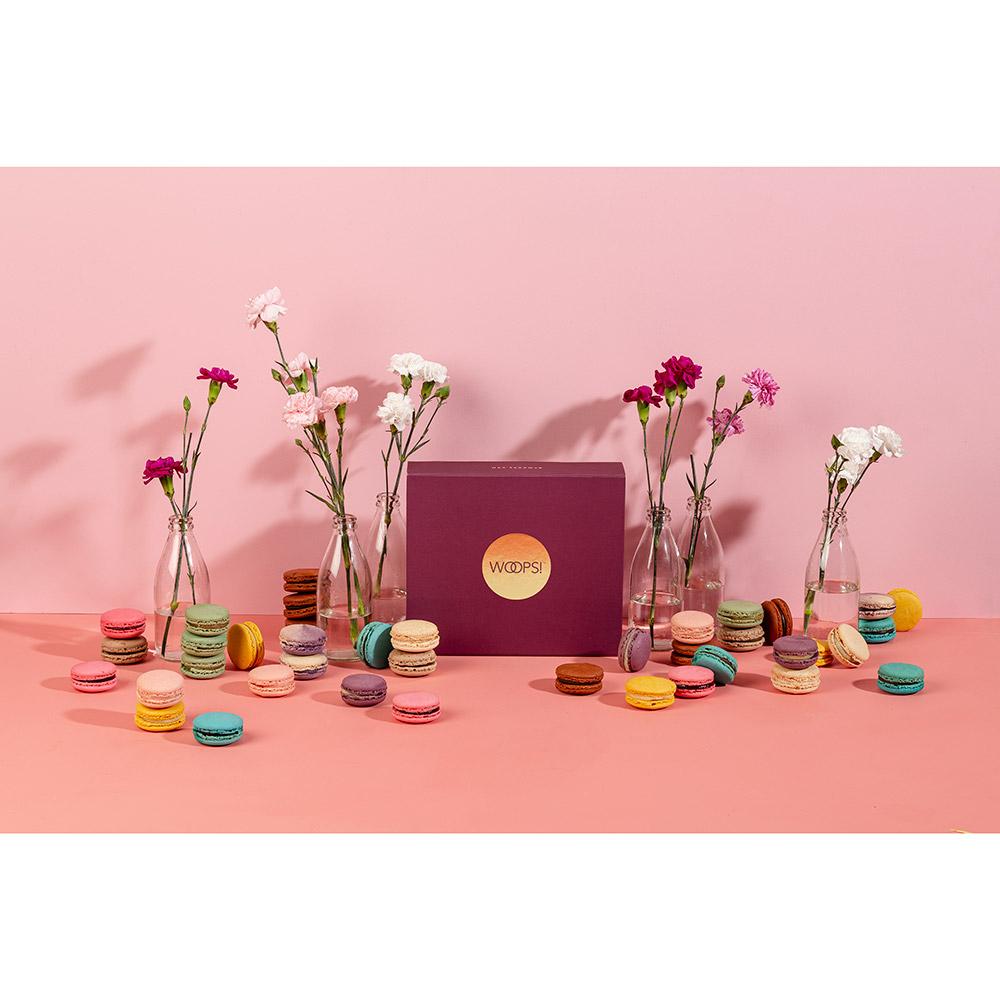 Happy Birthday Woops Macarons Box - 18 pc