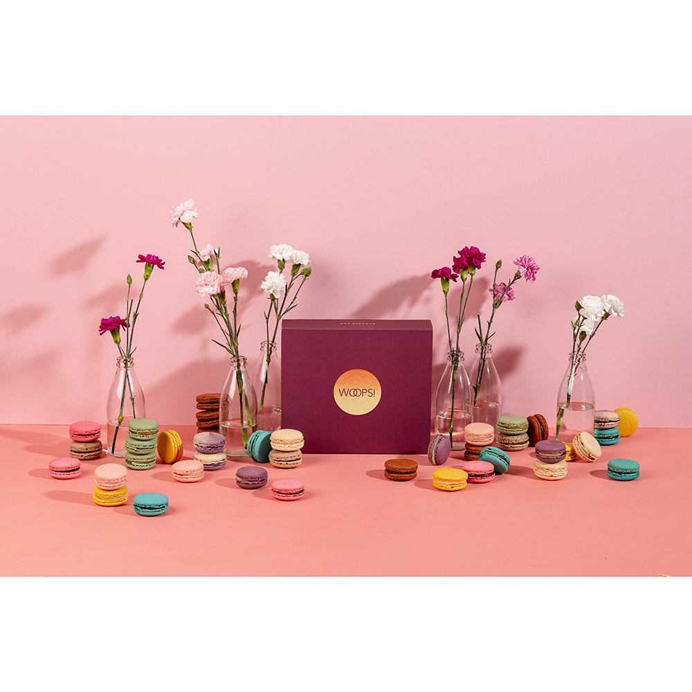 Happy Birthday Woops Macarons Box - 36 pc