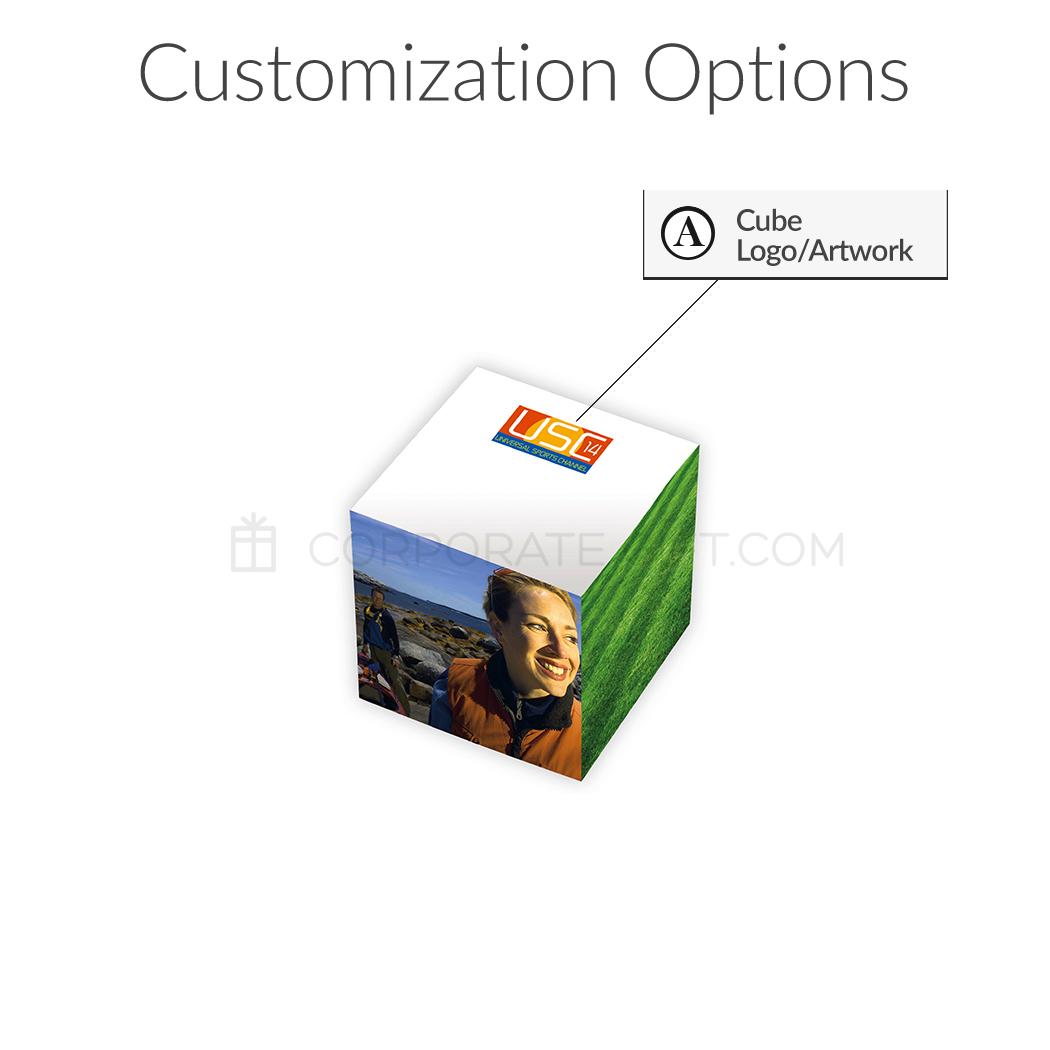 "Custom BIC® 3"" x 3"" x 3"" Adhesive Cube"