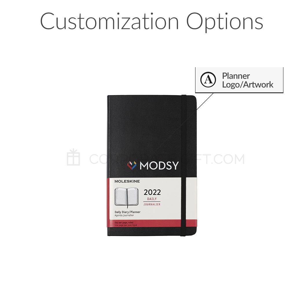 Moleskine® Hard Cover Large 12-Month Daily 2022 Custom Planner